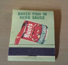 Hunts Tomato Sauce Matchbook from 1963