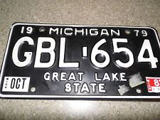 Vintage 1979 Michigan License Plate - GBL-654