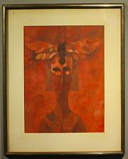 Lynn Sweat abstract mythical figure painting Texas artist Beaumont TX