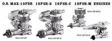 OS MAX 10FSR 10FSR-S 10FSR-C 10 FSR-M  Engine Info Sheets ~ Parts List & Nubers