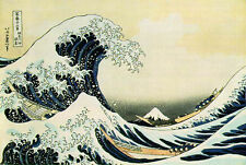 Oil Painting repro Hokusai Katsushika The Great Wave at Kanagawa 36x48