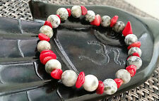 Crystal Agate empowering stone Coral Bracelet