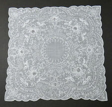 Madeira Heavily Embroidered Hanky - Wedding - Vintage Keepsake Fine Hand Work