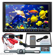 "Double 2Din In Dash 7"" Car CD DVD Player Radio Stereo USB SD SUB Mp3+Free Camera"