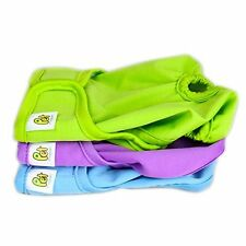 Pet Magasin Washable Dog Wraps (3-Pack) - Small Durable Dog Diapers Nappies for