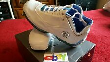 Nike Air Jordan 18 XVIII Low OG 2003 WHITE/CHROME-UNI BLUE-MT SILVR  306151 104