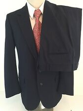 Lanvin Barneys Navy Blue Chalkstripe Suit 40L