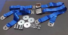 1955-1972 CHEVROLET GMC PICKUP TRUCK VINTAGE CHROME 2 BRIGHT BLUE SEAT BELT SETS