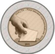 Malta  2011  2 euro commemo   Grondwet 1849 Afgevaardigden    UNC uit de rol !!!