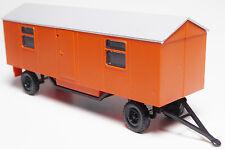 H0 Bauwagen Baustellenanhänger A 8 orange Fenster Tür Treppe Lüfter DDR SERO