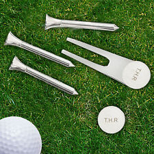 Personalised Engraved Golf Ball Marker Gift Set Christmas Birthday Fathers Day