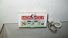 MONOPOLY GAME BOARD KEY CHAIN USED MISSING PIECES