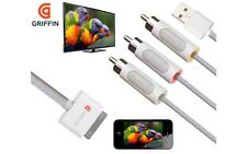 Griffin Composite Cable AV RCA Video to TV USB Charger iPad2 3 iPhone 4 iPod 2