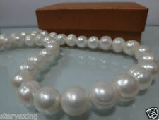 HUGE 12-15MM NATURAL WHITE SOUTH SEA BAROQUE PEARL NECKLACE 18""