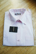 nwt men's classic formal short sleeve pink shirt workwear by KONSUL 40 176-182