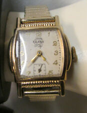Vintage ELLESS SXP 7 Jewels Gold Fill Swiss Made Gents Watch ~ Parts or Repairs