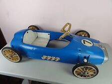 RARE Garton Sprite 7 Pedal Car Roadster Race Car Blue Plastic 1960s