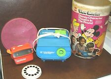 Vintage GAF View Master Theater In The Round Projector Disney w Slides and Box