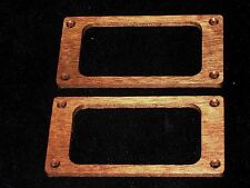 Set of 2 Humbucker Pick Up Mounting Rings Mahogany Wood 5/32 in thick #126