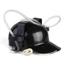 Bier Plastik Kappe Helm Trinken Kopfhoerer - schwarz GY