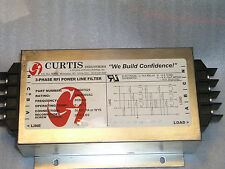 Curtis industries F3600T025 3 phase 600V 25A 50/60Hz  Delta/Y power line filter