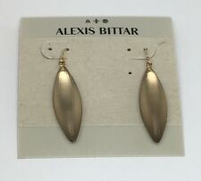 NEW Alexis Bittar WARM BROWN TAUPE Sliver Dewdrop Teardrop Dangle Earrings $95