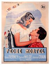 LEAVE HER TO HEAVEN (1945) Orig French one sheet poster Tierney, Wilde STUNNING!