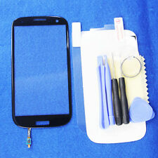 Black Touch Screen Glass Lens + Sensor Flex Cable for Samsung Galaxy S3 i9300