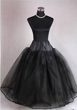 Black New 3 Layer Tulle no Hoop Wedding dress Petticoat Underskirt Crinoline**