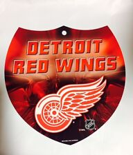 "RED WINGS Team Interstate Sign Shield Plastic 8"" by 8"" NEW NHL DETRIOT RED WINGS"
