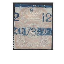 GB 1872 5/- EMBOSSED ADHESIVE Revenue 'scales' watermark