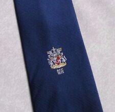 RFC 1875 TIE VINTAGE RETRO COAT OF ARMS CREST CLUB ASSOCIATION 1970s 1980s BLUE