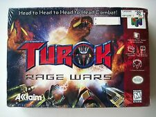 TUROK RAGE WARS Nintendo 64 N64 NEW Factory Sealed COMPLETE 1999 NIB MINT Game