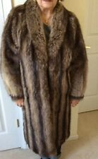 Raccoon Fur coat Christian Dior Size 12 Full Length - MINT