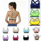 Women Yoga Fitness Stretch Workout Tank Top Vest Racerback Padded Sports Bra &ZV