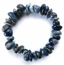 **BEAUTIFUL LAPIS LAZULI CHUNKY LARGE CHIP CRYSTAL BRACELET - HEALING / REIKI**