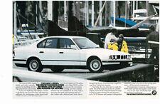 1989 BMW 5-SERIES  -  NICE ORIGINAL 2-PAGE PRINT AD