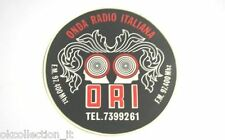 ADESIVO RADIO anni '80 / Old Sticker ORI ONDA RADIO ITALIANA (cm 11)