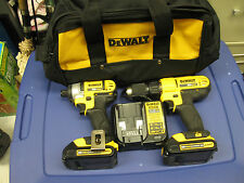DEWALT 20V VOLT MAX CORDLESS COMBO SET DCD771 DRILL DCF 885 IMPACT wCARRY BAG