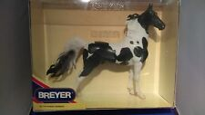 Breyer Traditional-American Saddlebred Stallion-Black & White Pinto!