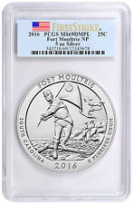 2016 25c 5 oz. Silver ATB Fort Moultrie PCGS MS69 DMPL FS (Flag) SKU44006