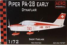 Piper pa-28 early dynaflair, resinbausatz, 1:72, modello Aero, Svizzera, NUOVO