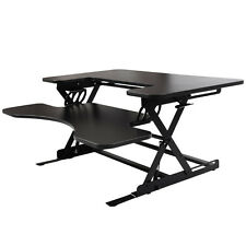 Ergonomic Height Adjustable Standing Desk Sit Stand Desk Top Desk Riser Black