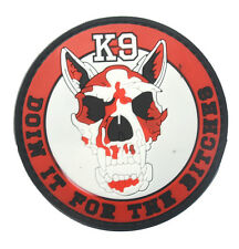 K-9 USA ARMY TACTICAL MILITARY MORALE BADGE  HOOK PATCH  SH   667