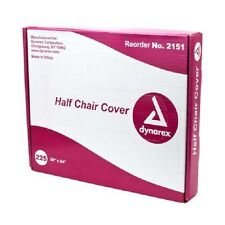 225 DENTAL CHAIR COVERS (HALF CHAIR) 28 x 24 CLEAR PLASTIC SLEEVES, BOX OF 225