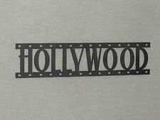 HOLLYWOOD Movie Film Strip Wood Wall Word Sign Art Decor Movies Reel