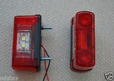 Pair 4 LED Rear Tail Marker Lights & Number Plate Lamp Red / White 12V/24V Truck