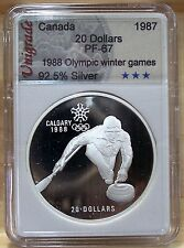 CANADA $20 CALGARY WINTER OLYMPIC 1988 Proof  **No8** (CURLING) #01