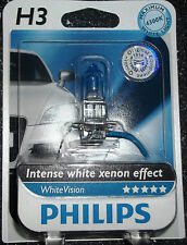 PHILIPS H3 WHITEVISION INTENSE WHITE XENON EFFECT SINGLE UPGRADE BULB 4300K H3