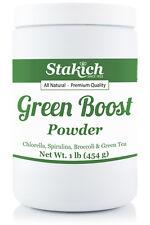 1 lb Pure CHLORELLA, SPIRULINA, BROCCOLI, GREEN TEA Powder Mix Pure Natural Raw